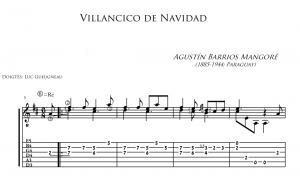 Agustín Barrios Mangoré - Villancico DeNavidad (Tab)