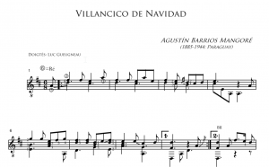 Agustín Barrios Mangoré - Villancico De Navidad